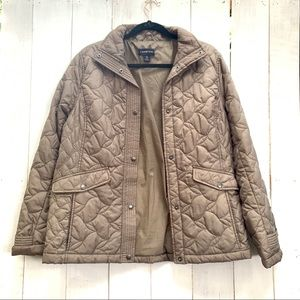 LAND'S END quilted coat